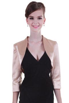 Miss Anne formal satin jacket $69