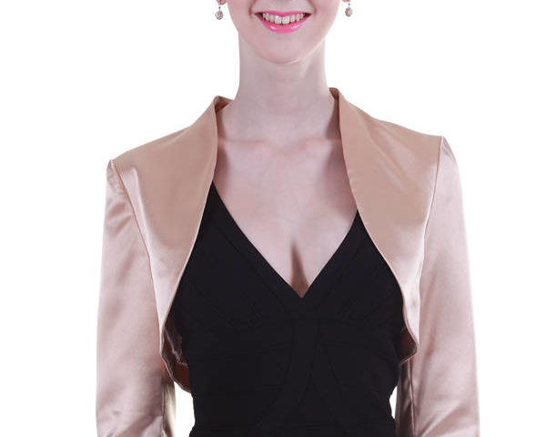 Miss Anne formal satin jacket $69