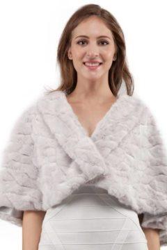 Miss Anne 13428 Faux fur cape $89