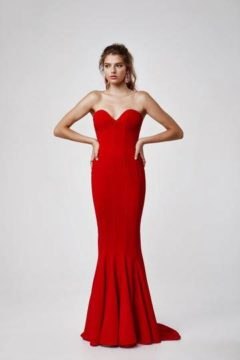 Lexi 1590 Sahar Red Evening gown or formal dress $350