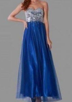 Miss Anne 213354 dress with Tuille overlay WAS $390 NOW $150