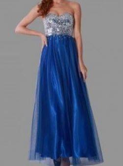 Miss Anne 213354 dress with Tuille overlay $390