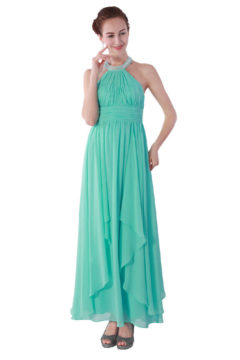 Miss Anne 213509 High Neck, Lace back Dress $190
