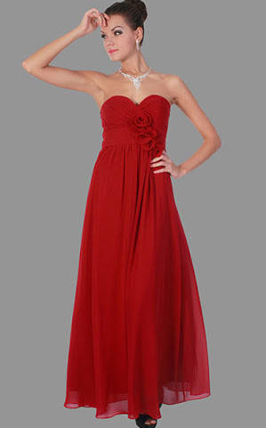 Miss Anne 21485 long strapless dress WAS $170 NOW $99
