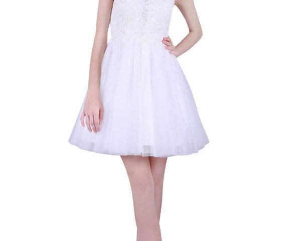 Miss Anne 215017 short lace low back dress $190