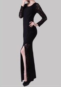 Miss Anne 215242 dress with long lace sleeves $169