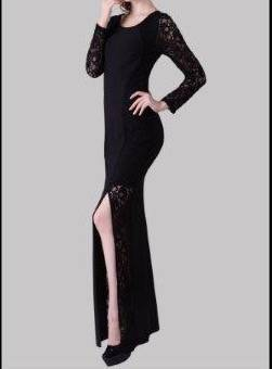 Miss Anne 215242 dress with long lace sleeves WAS $169 NOW $99