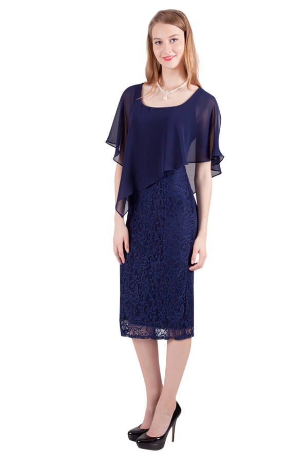 Miss Anne 216258 Lace Cocktail Length Dress 140