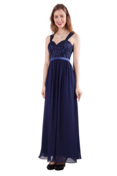 Miss Anne 216275 Long dress with lace bodice from WAS $230 NOW $150