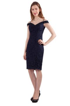 Miss Anne 216347 lace off shoulder Dress $160