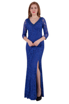 Miss Anne 216484 long dress with sleeves WAS $240 NOW $100