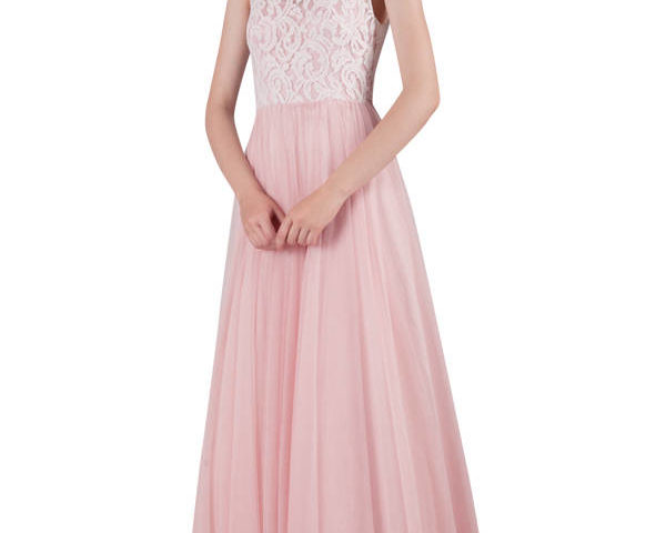 217209 Long white Bridal Gown/Wedding or Debutante dress with lace bodice $350