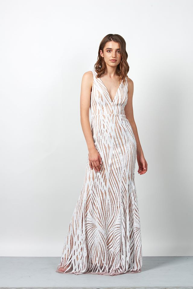 Miss Anne 217332 sequined long dress $249.00