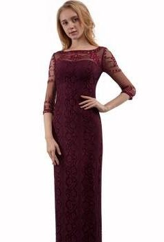 Miss Anne 217485 long dress with long sheer sleeves $349