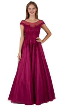 Miss Anne 219335 Hailey Fuschia Evening Gown Formal Dress $375