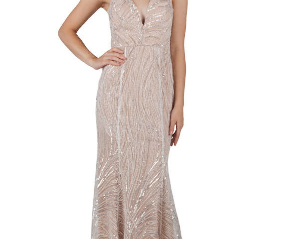 Miss Anne 219443 Venus Sequined Formal dress Evening gown $279
