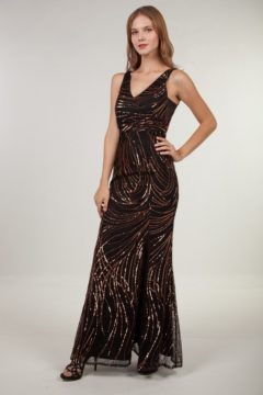 Miss Anne 219444 Sequin Evening Formal Dress