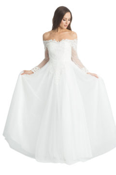 Miss Anne 219516 Long lace Wedding or Debutante dress $390