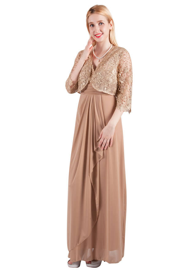 Miss Anne 4120 Long Dress and Jacket $250