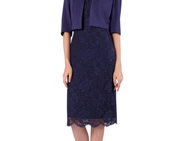Miss Anne 4127 Lace cocktail length Dress and Jacket WAS $150 NOW $90