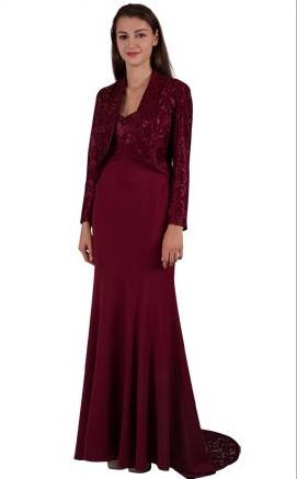 Miss Anne 4144 long dress and jacket $250