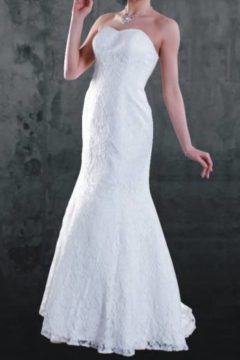 Anissa 900004  Lace strapless Bridal Gown / Wedding dress size 14 WAS $1100 NOW $700