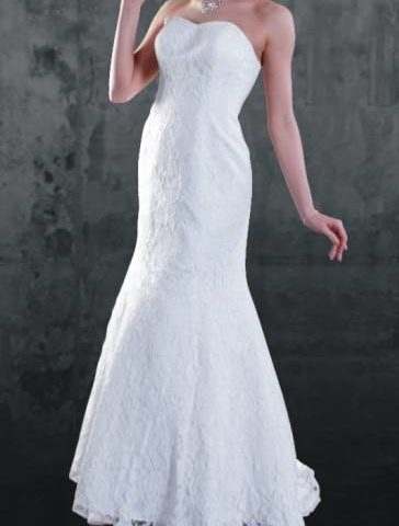 Anissa 900004  Lace strapless Bridal Gown / Wedding dress size 14 WAS $1100 NOW $500