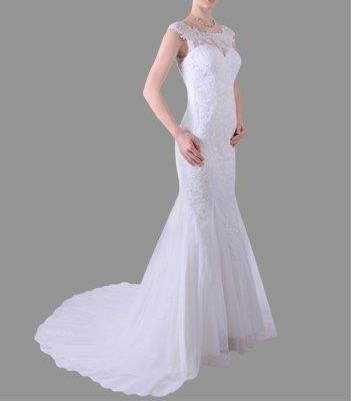 Anissa 914051 Lace Bridal Gown / Wedding Dress size 10 WAS $950 NOW $500
