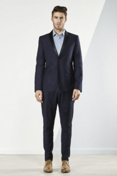 Aston A049301 Navy Suit or Tuxedo with black satin detachable lapel was $420 NOW $329