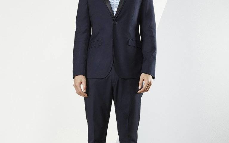 Aston A049301 Navy Suit or Tuxedo with black satin detachable lapel was $420 NOW $329