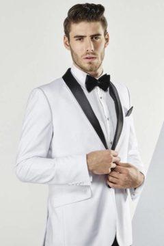 Aston A109301 White Suit Tuxedo $329