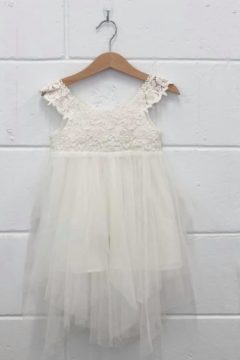 Aurora lace flower girl dress White $85