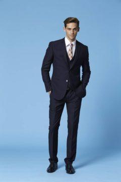 Deniro 92433 Slim fit Black 2 piece WAS Suit $220.00 now $150