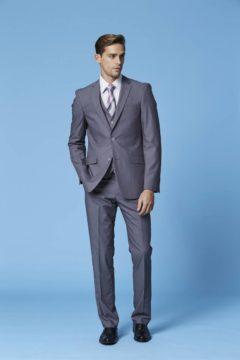 Deniro 92431 grey  2 piece slim fit suit WAS $220 NOW 150