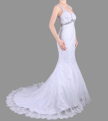 Anissa 914056 Lace Bridal Gown / Wedding Dress Size 10 WAS $1100 NOW $500