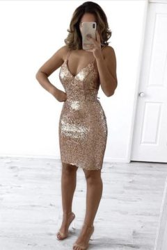 Miss Anne 219509 Carly sequined cocktail dress $99