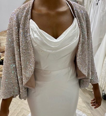 Miss Anne 13479 sequined Cardi $89