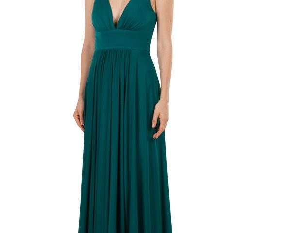 Miss Anne 220365 long jersey A-Line formal dress $299