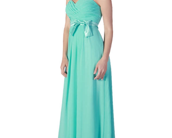 Miss Anne 211161 Strapless dress – chiffon with satin bow $180