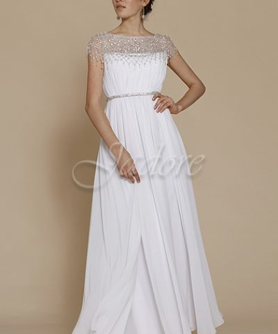 Jadore J2031 White Bridal Gown / Debutante dresses size 8 WAS $520 NOW $400