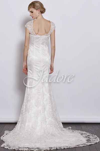 J3034-Ivory Bridal Gown - Back