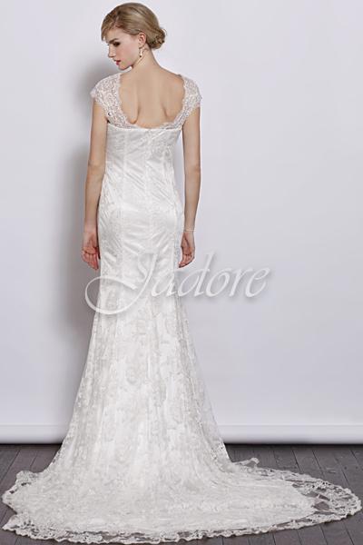 J3034-Ivory Bridal Gown - Back