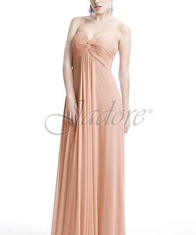 Jadore J5082 STRAPLESS DRESS IN MICRO MESH FABRIC size 8 WAS $239 NOW ONLY $150.00