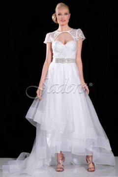 Jadore J6060 White Bridal Gown / Wedding Dress /  Debutante dresses Size 12 WAS $450 NOW $300