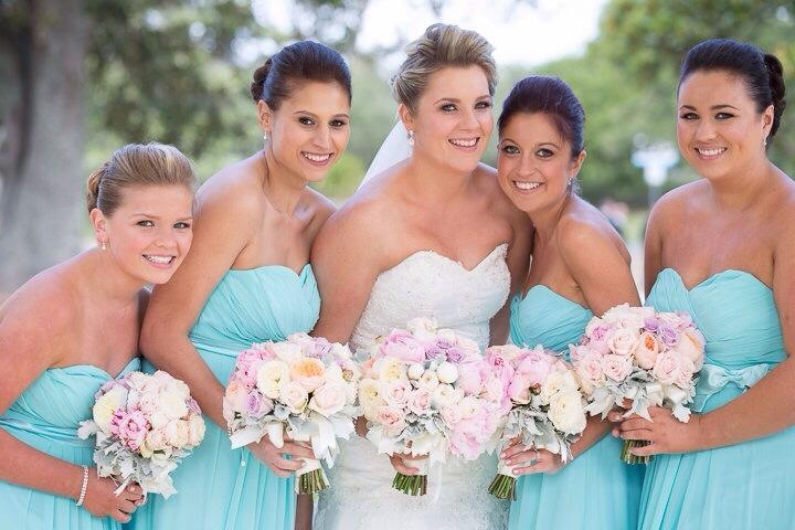 Kylie with bridesmaids upclose