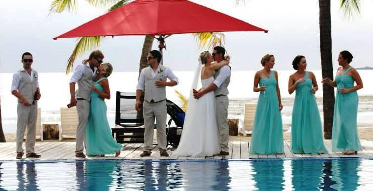 Laura wedding party pool