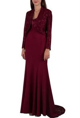 Miss Anne 4144 long dress and jacket $190