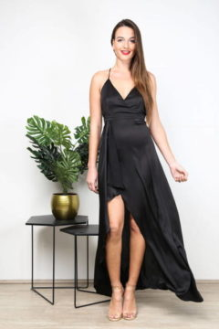 PF9797 Satin formal Dress  was $99 NOW $50
