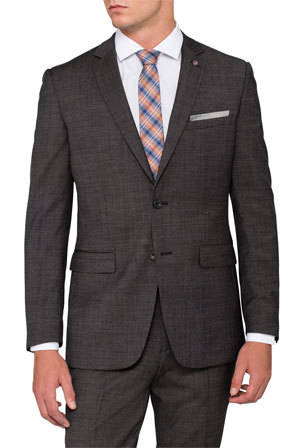 PJ920 CHARCOAL PIERRE CARDIN WOOL SUIT WAS $399 NOW $299