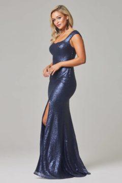 Poseur PO595 Long sequin Dress $390